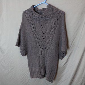 Guinevere Anthropologie Cowl Neck Cable Sweater